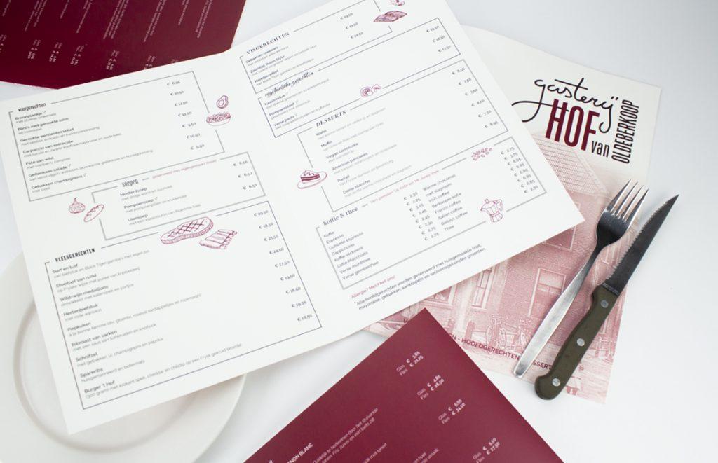 menukaart digitaal drukken